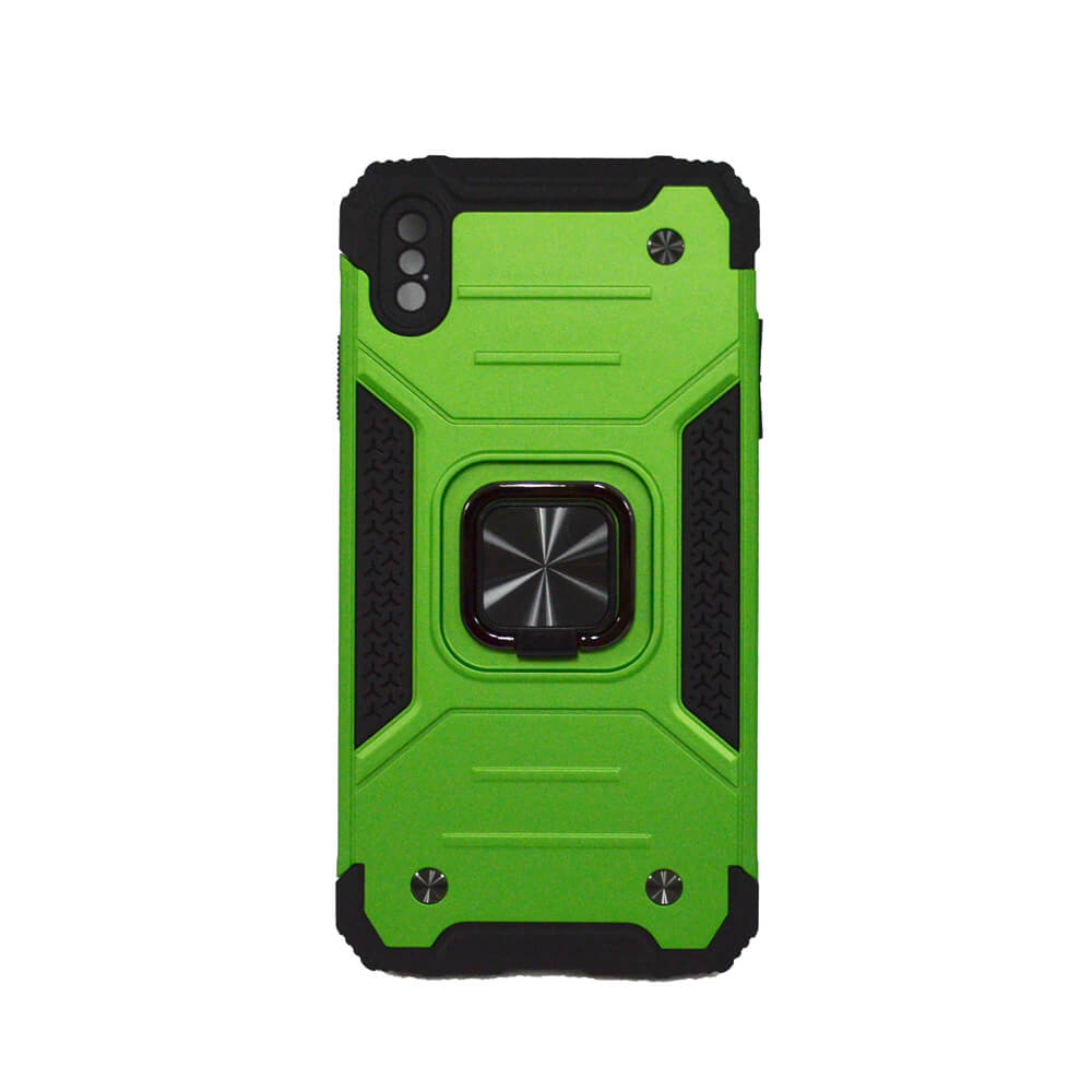 IPHONE XS MAX RING ARMOUR CASE – GREEN