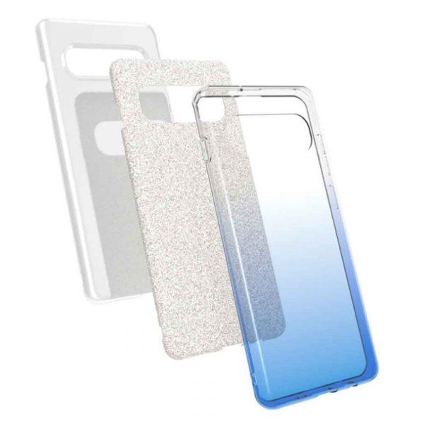 SAMSUNG GALAXY S10 PLUS FADED GLITTER – BLUE