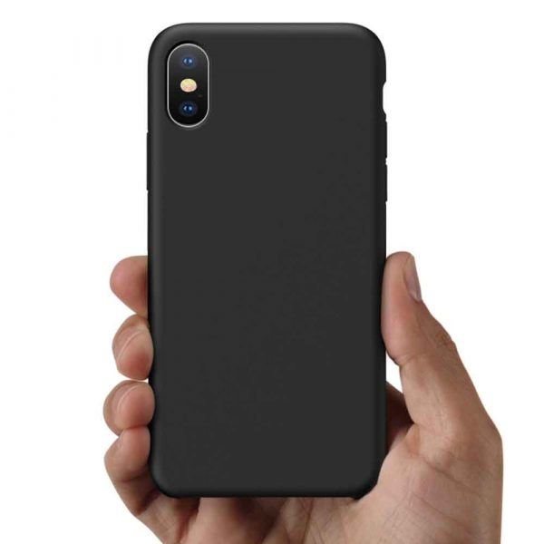 ISHOCK IPHONE XS MAX SILICONE CASE – BLACK