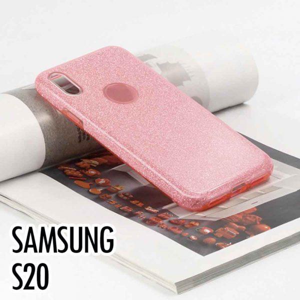 SAMSUNG GALAXY S20 GLITTER CASE – PINK
