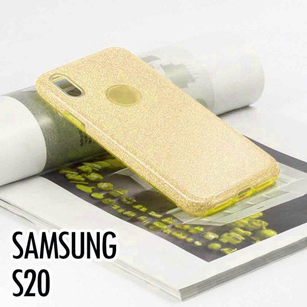 SAMSUNG GALAXY S20 GLITTER CASE – GOLD