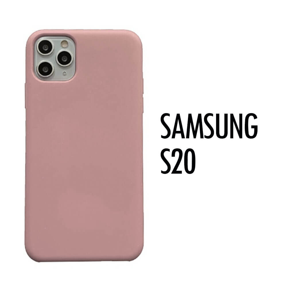 SAMSUNG GALAXY S20 SILICONE CASE – PINK