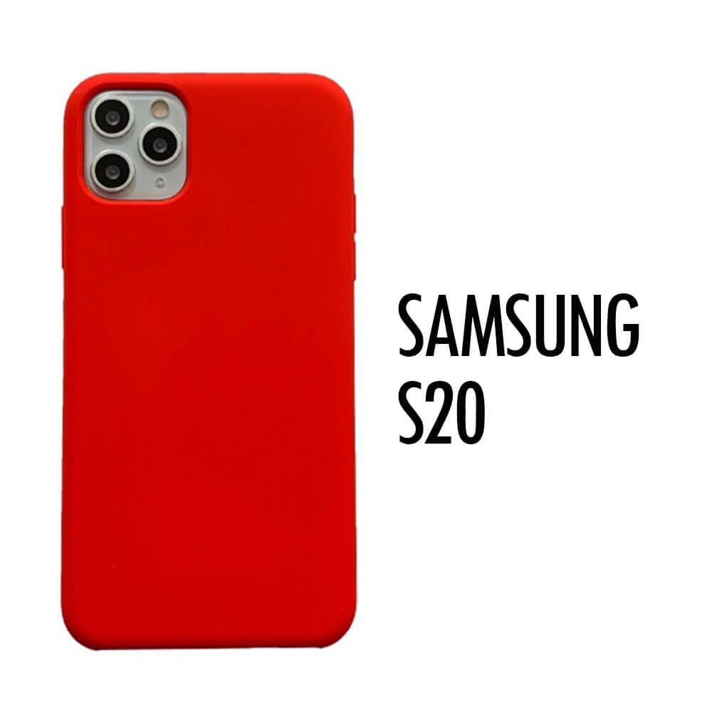SAMSUNG GALAXY S20 SILICONE CASE – RED