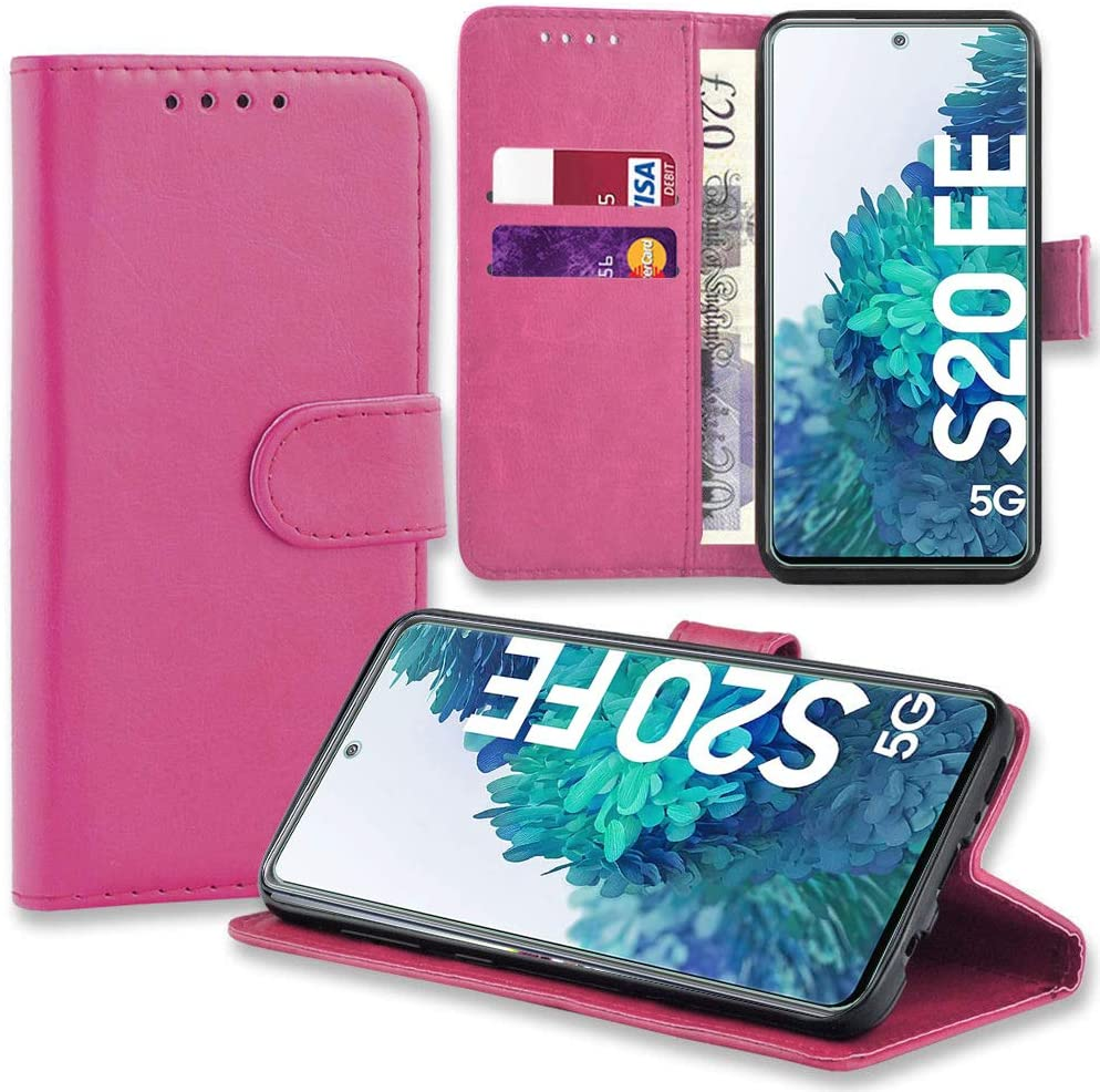 SAMSUNG GALAXY S20 FE PU LEATHER WALLET CASE – PINK