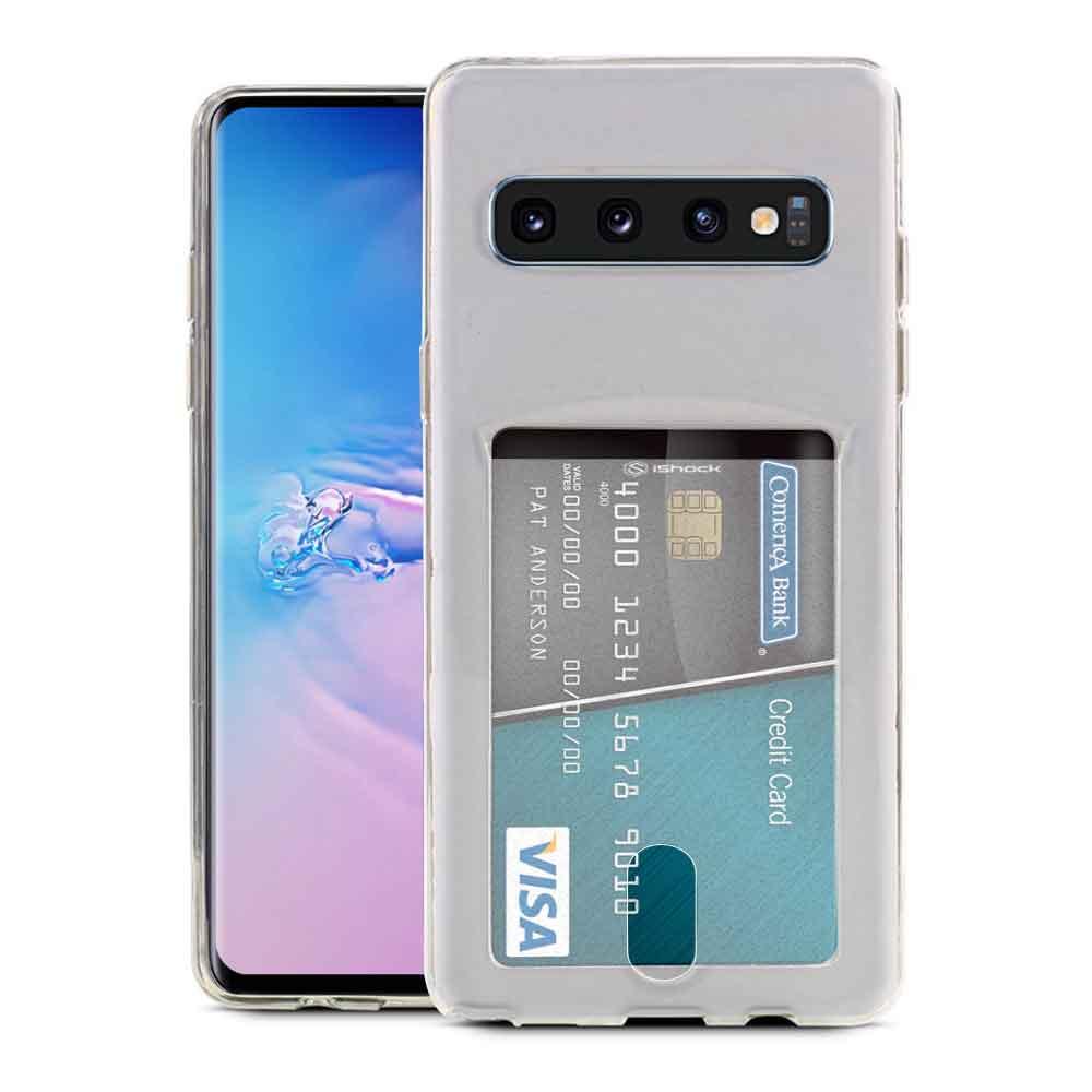 ISHOCK SAMSUNG GALAXY S10 PLUS CARD SLOT GEL CASE – CLEAR