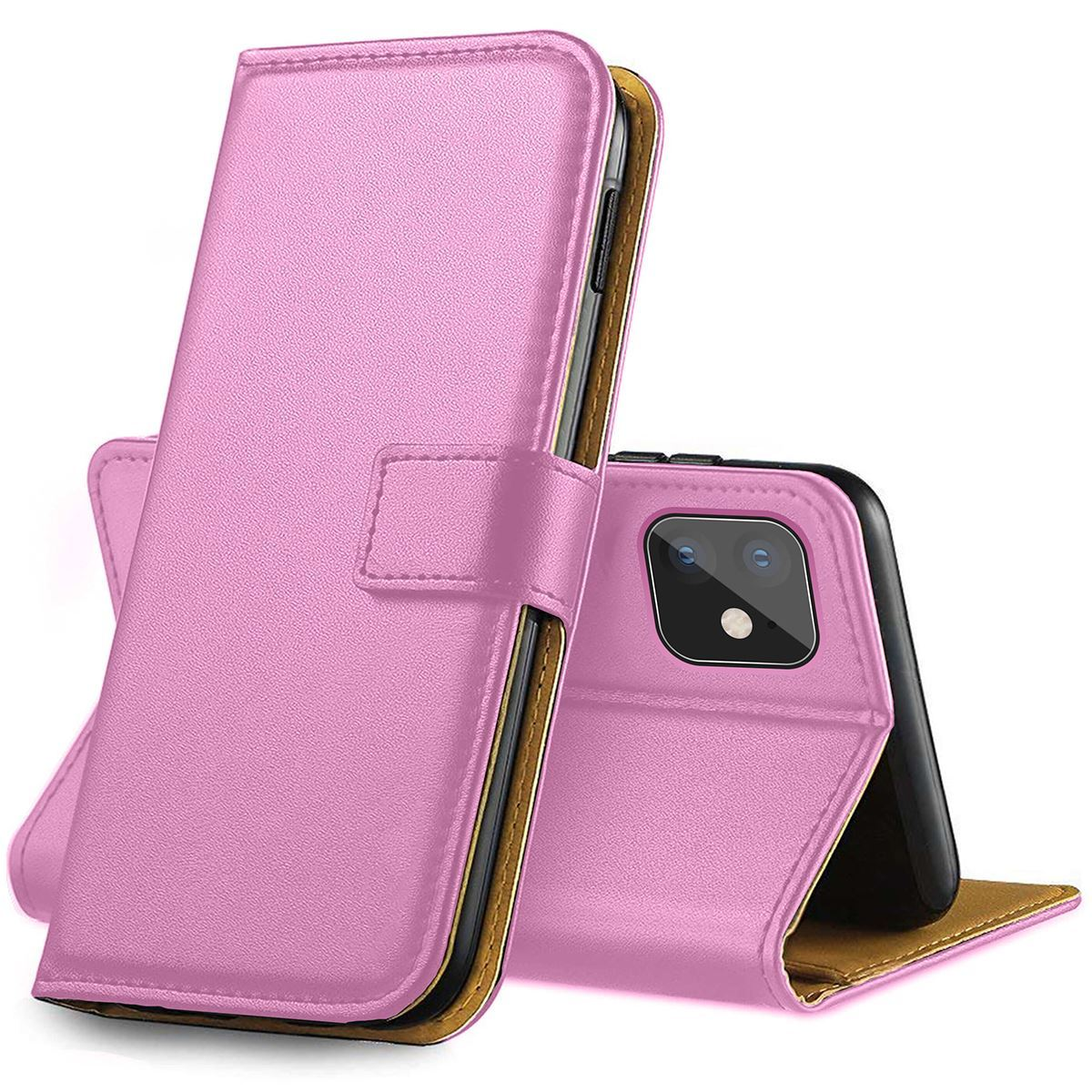 IPHONE 12 6.1 PU LEATHER WALLET CASE – PINK