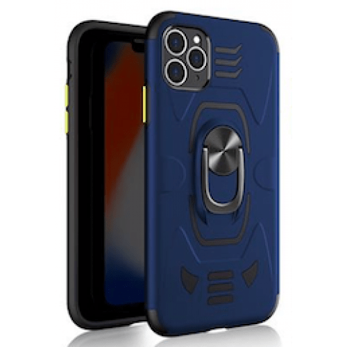 IPHONE XS MAX 6.5 ARMOUR MAGNET RING ROBO CLIP CASE BLUE