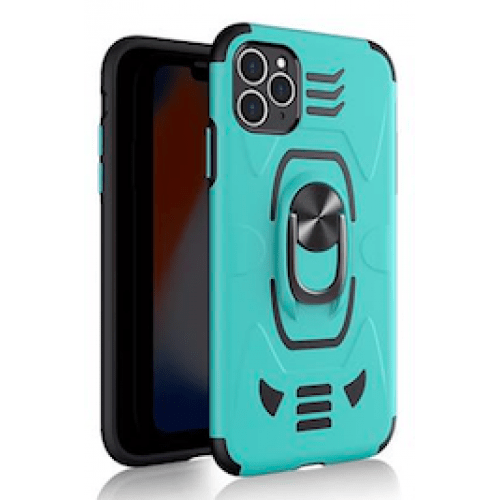 IPHONE 11 6.1 ARMOUR MAGNET RING ROBO CLIP CASE TURQUOISE