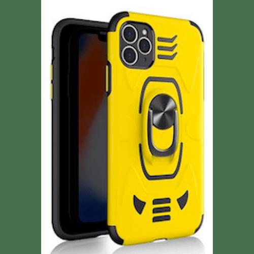IPHONE 11 6.1 ARMOUR MAGNET RING ROBO CLIP CASE YELLOW